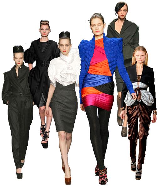 今年2月頃の2009,2010秋冬シーズンのファッションウィークで、ヨーロッパの有名ブランドが発表した服は、80年代に見られたドレープ、フリル、ギャザー、レース、そして