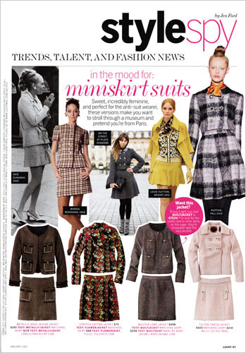 今年のアメリカのファッション誌の1ページから。