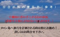 百合が浜の潮見表