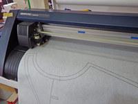 縫製の修行中