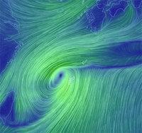 台風がやってきた~。