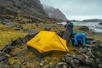 簡単に組み立てられるテントか~! これは気になる。