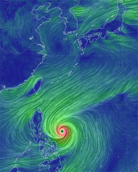 台風が接近!!