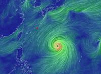 台風の影響はあまりなさそう・・・・